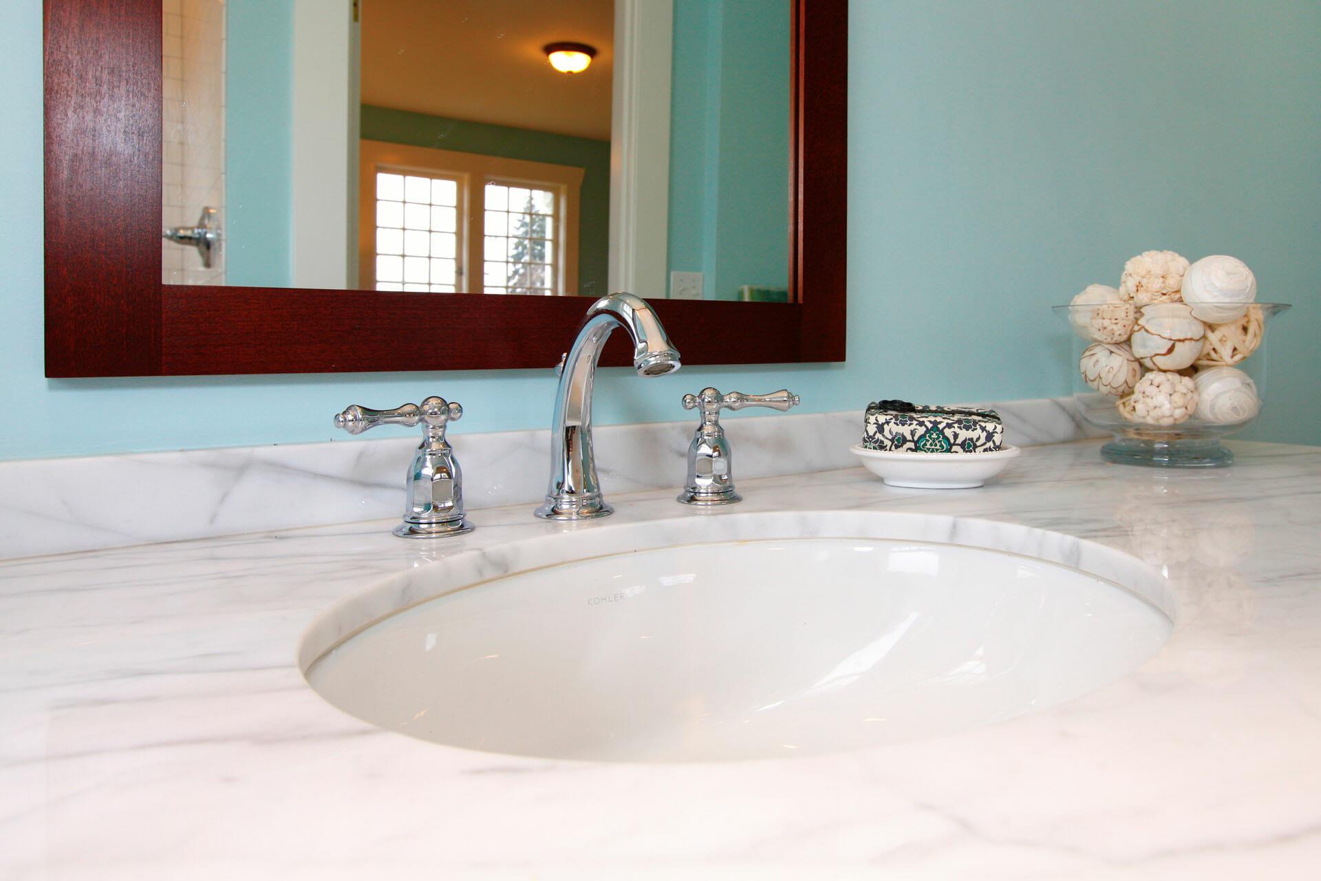 Piano in marmo bagno 1 marmisavegnago - Bagno piano marmo ...