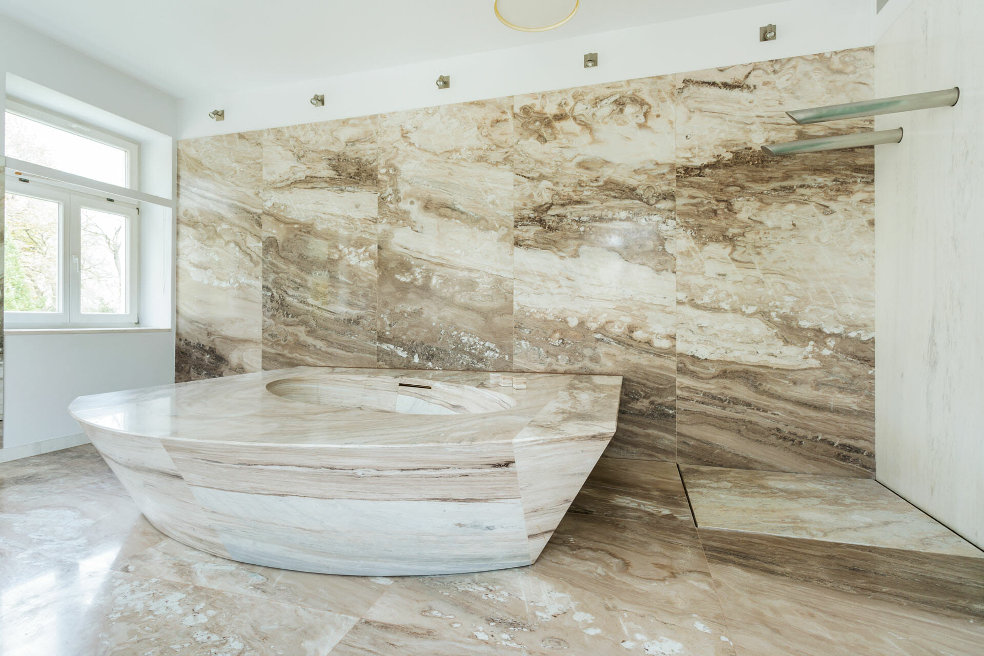 Piano in marmo bagno 3 marmisavegnago - Bagno piano marmo ...